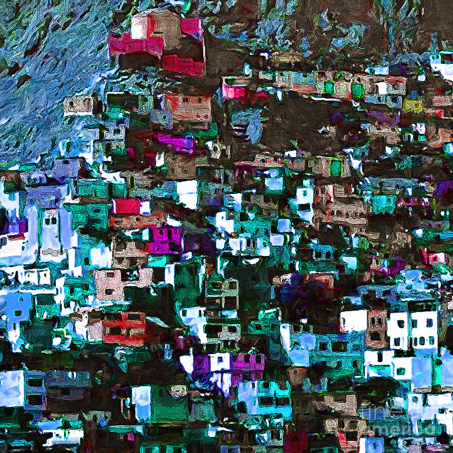 Peru Photograph - The City On The Hill V1p168 Square by Wingsdomain Art and Photography