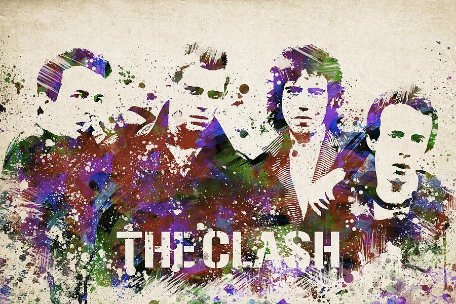 The Clash Digital Art - The Clash Portrait by Aged Pixel