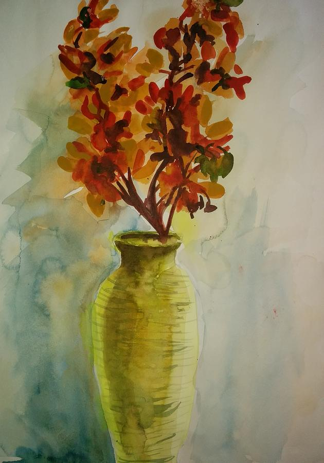 The Classic Flower Vase Painting By Shaiba Pv