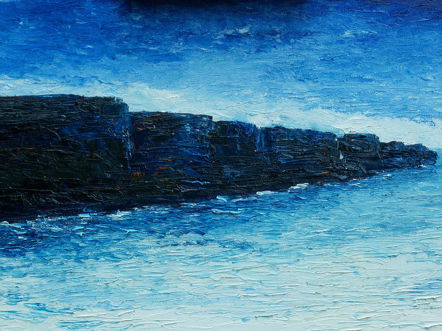 The Cliffs Of Moher Painting - The Cliffs by Conor Murphy