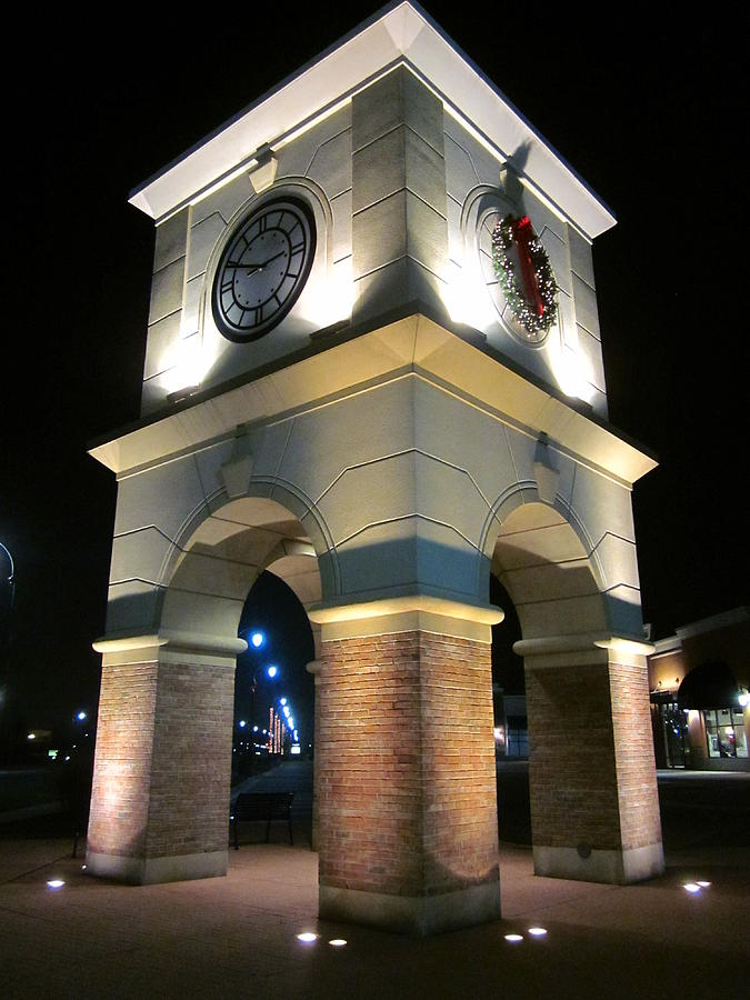 Night Scene Photograph - The Clock Tower by Guy Ricketts
