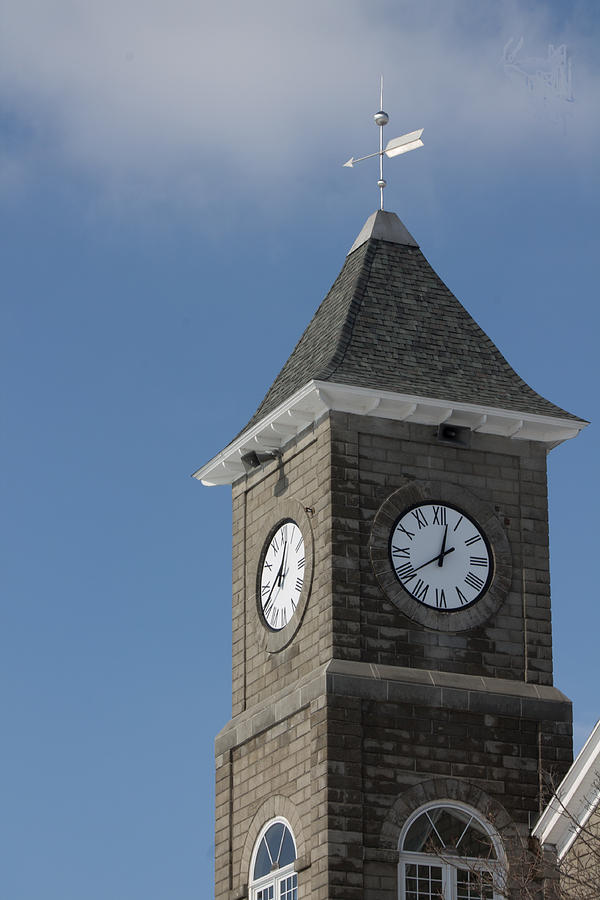Clock Photograph - The Clock Tower by Rhonda Humphreys