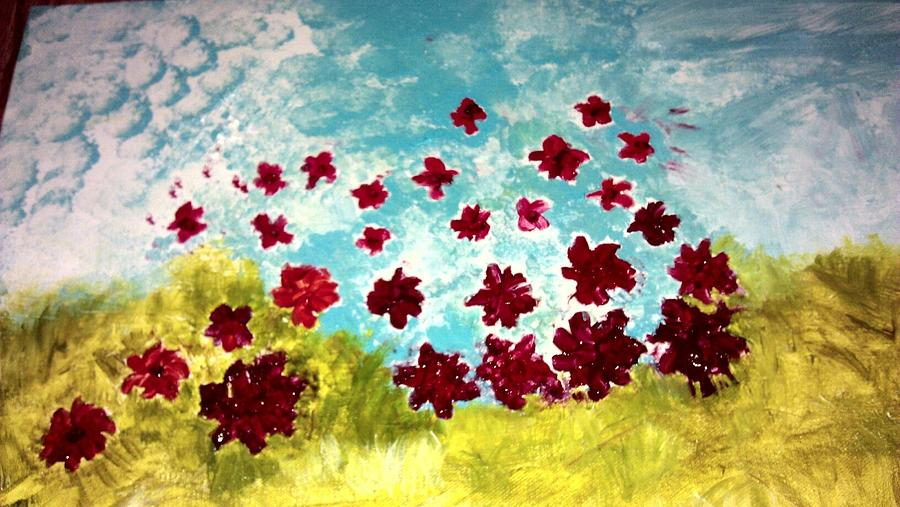 Abstract Colors Painting - The Cloud Has Lifted by Lisa S Patti