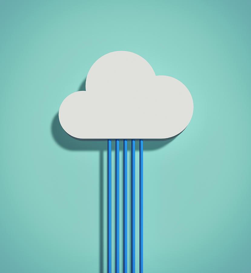 The Cloud Network Digital Art by Yagi Studio