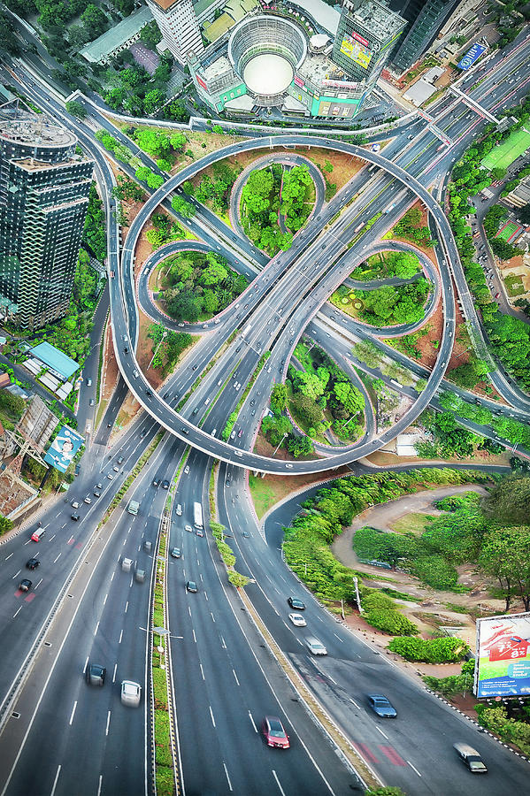 Interchange Photograph - The Clover Interchange (semanggi) by Abel Brata