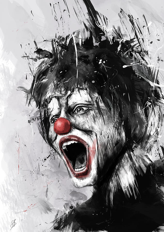 Clown Digital Art - The Clown by Balazs Solti
