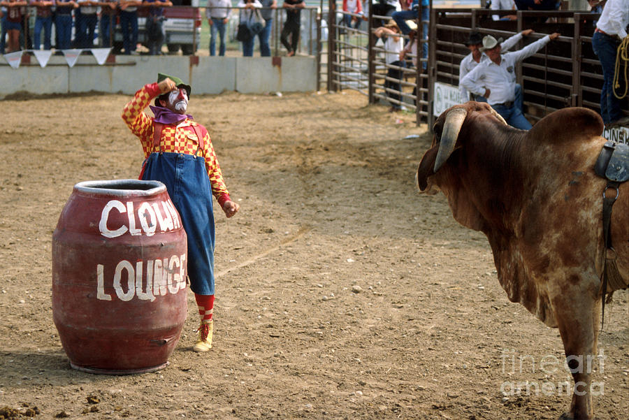 Rodeo Photograph - The Clown by Jerry McElroy