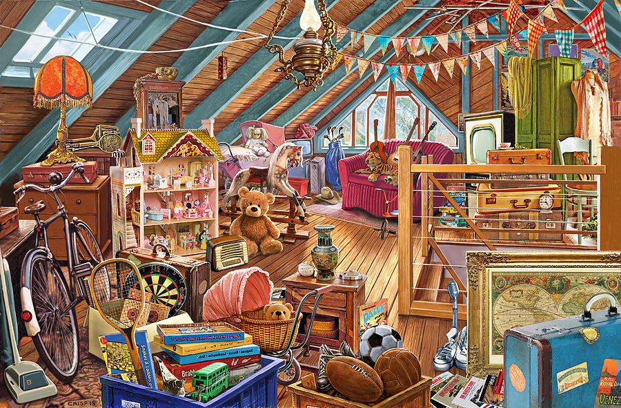 The Cluttered Attic Painting By Steve Crisp
