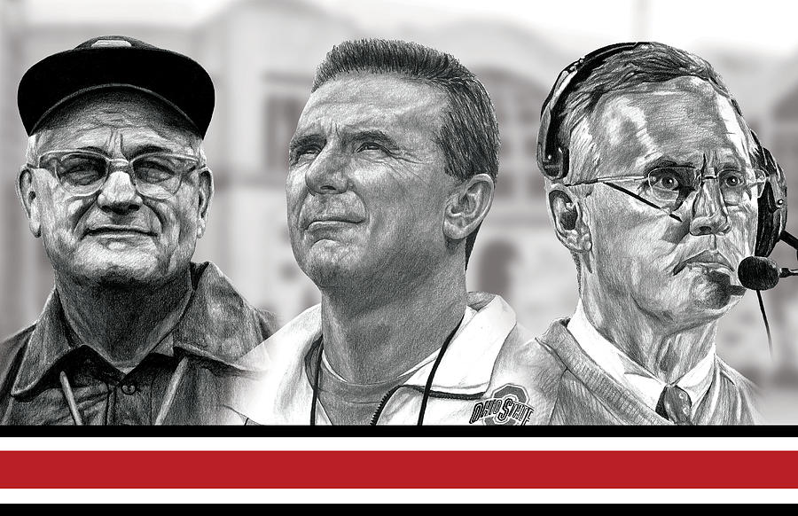 Ohio State Buckeyes Digital Art - The Coaches by Bobby Shaw
