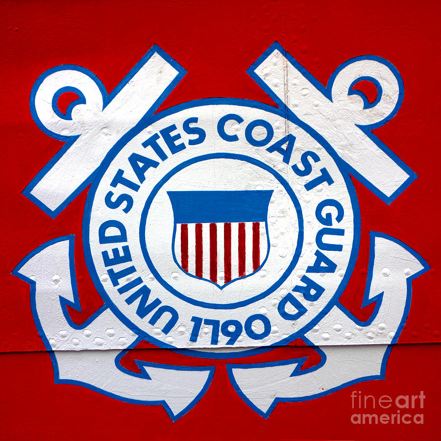 United Photograph - The Coast Guard Shield by Olivier Le Queinec