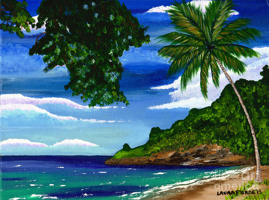 The Coconut Tree Painting By Laura Forde