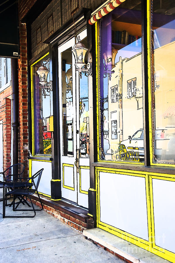Coffee Shop Photograph - The Coffee Shop by Jim  Calarese