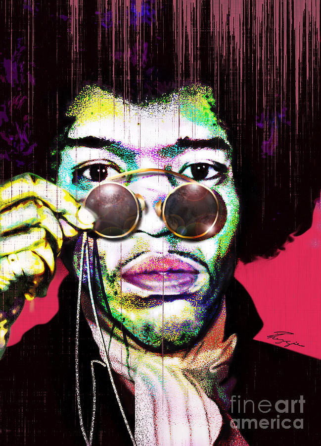 Jimi Hendrix Painting - The Color Of Rock - Jimi Hendrix Series by Reggie Duffie