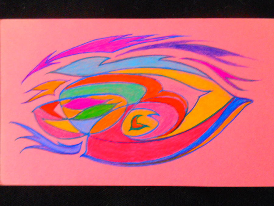 Abstract Drawing - The Color Of Speed by James Welch