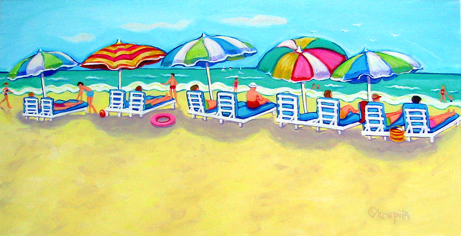 Colorful Beach Painting - The Color Of Summer  by Rebecca Korpita