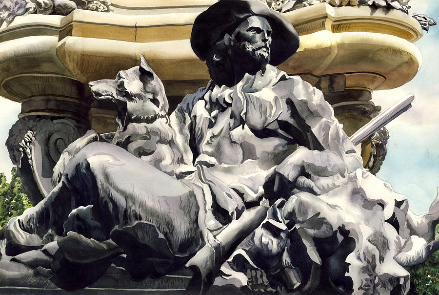Sculpture Painting - The Colorado Settler by Alfred Ng