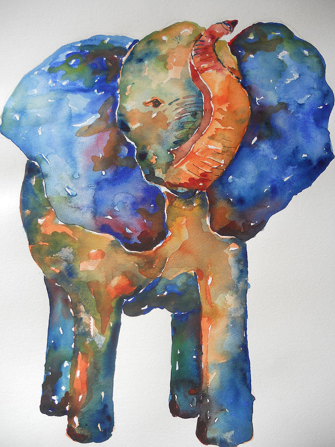 Impressionism Painting - The Colorful Elephant by Brandi  Hickman