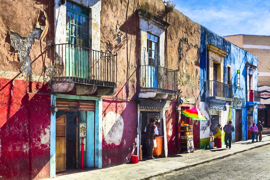 The Colorful Streets Of Puebla Mexico Photograph By Mark