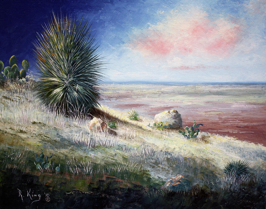 Cactus Painting - The Colors Of Evening by Roena King