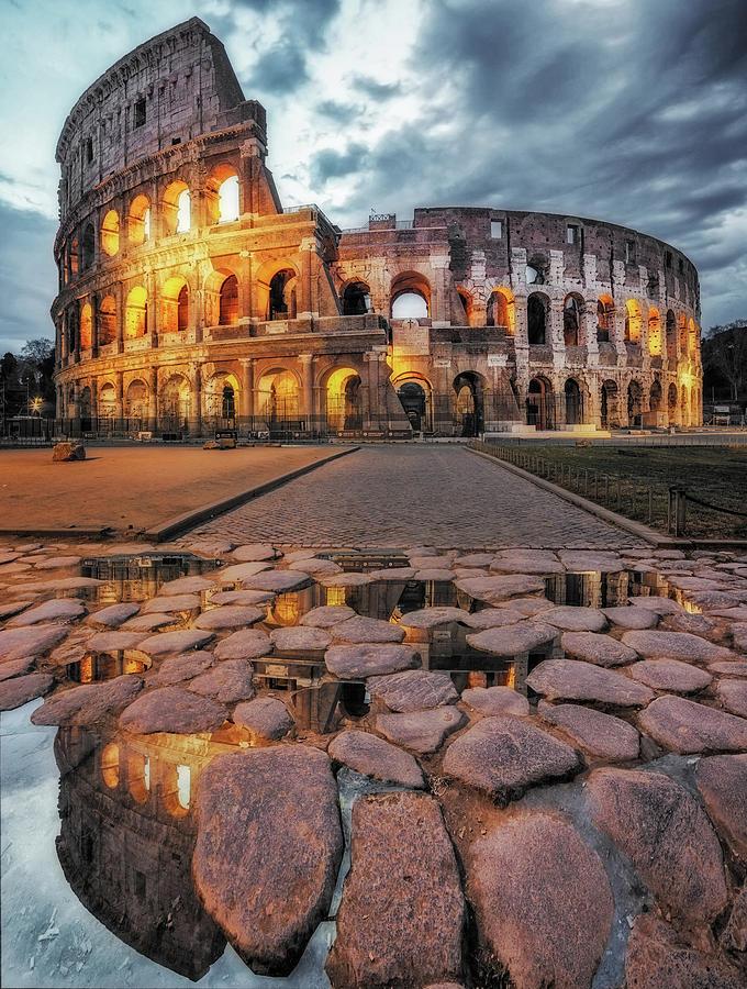 Colosseum Photograph - The Colosseum by Massimo Cuomo