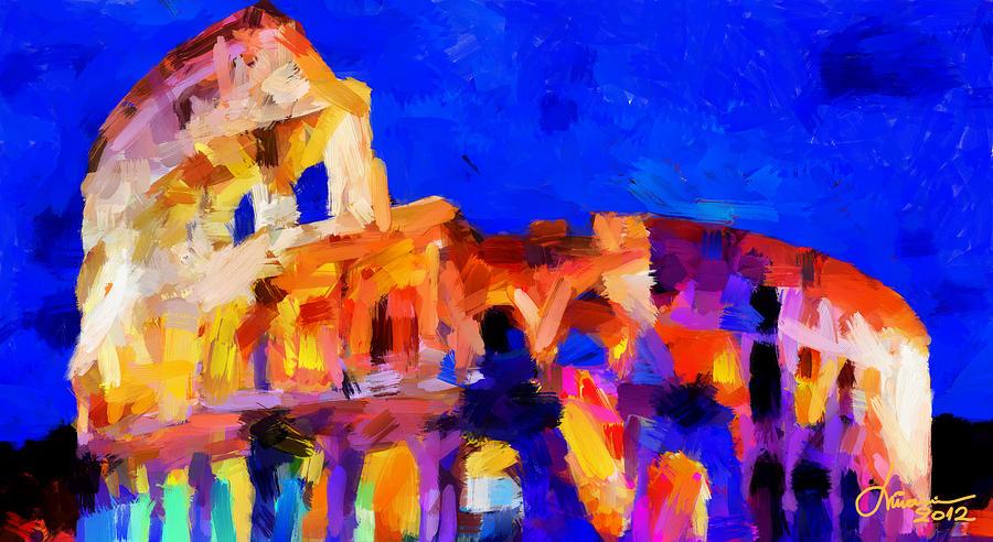 Colosseum Digital Art - The Colosseum Tnm by Vincent DiNovici