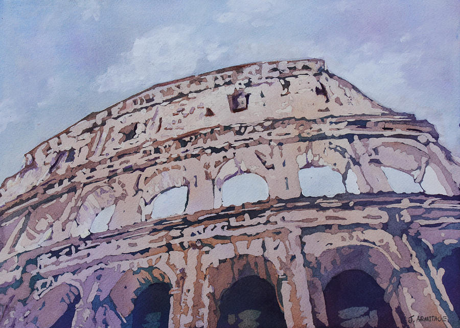 Colosseum Painting - The Colossus  by Jenny Armitage