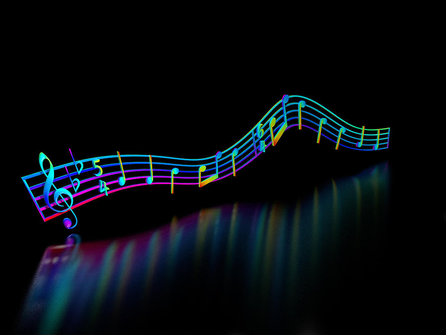 Music Digital Art - The Colour of Music by Paul McManus