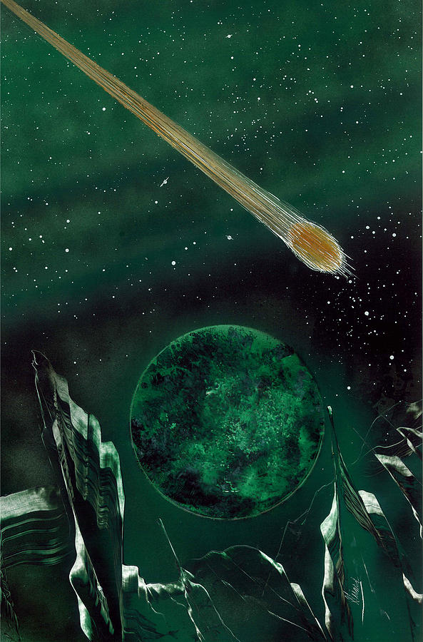 Comet Painting - The Comet by Jason Girard