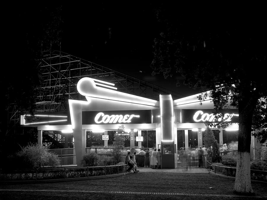 The Comet Photograph - The Comet Roller Coaster - St Louis 1950 by Mountain Dreams