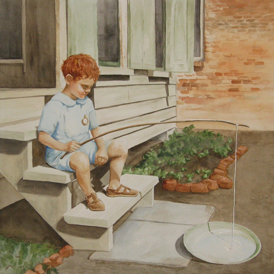 Boy Painting - The Comic At Five by Parrish Hirasaki