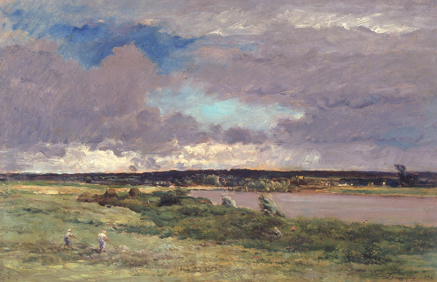 Landscapes Painting - The Coming Storm by Charles Francois Daubigny