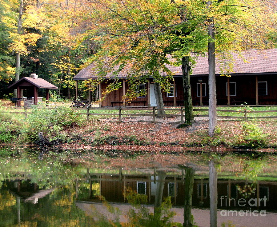 Autumn Photograph - The Commissioners Cabin In Autumn by Rose Santuci-Sofranko