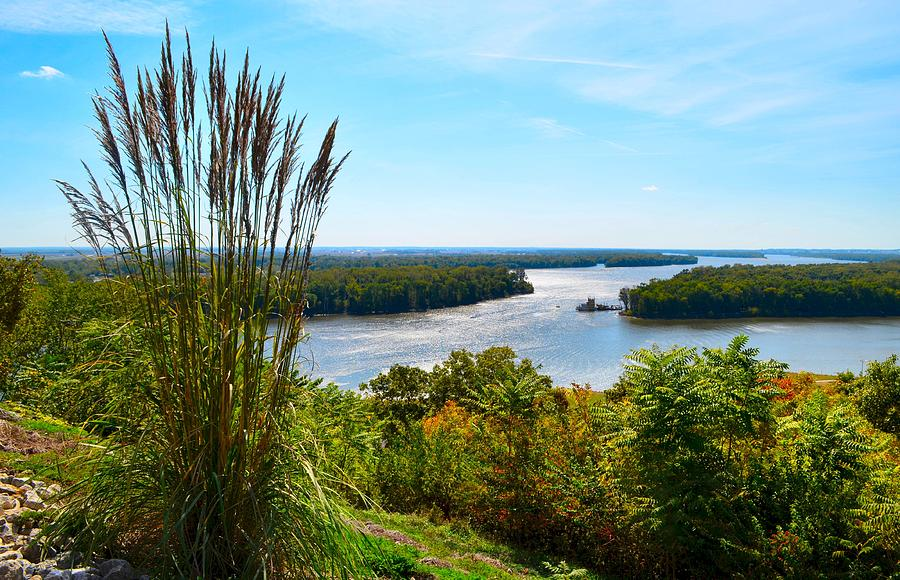 Mississippi River Scene Photograph - The Confluence  by Julie Dant