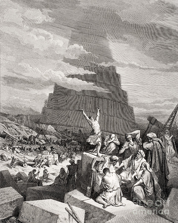 Babble Painting - The Confusion Of Tongues by Gustave Dore