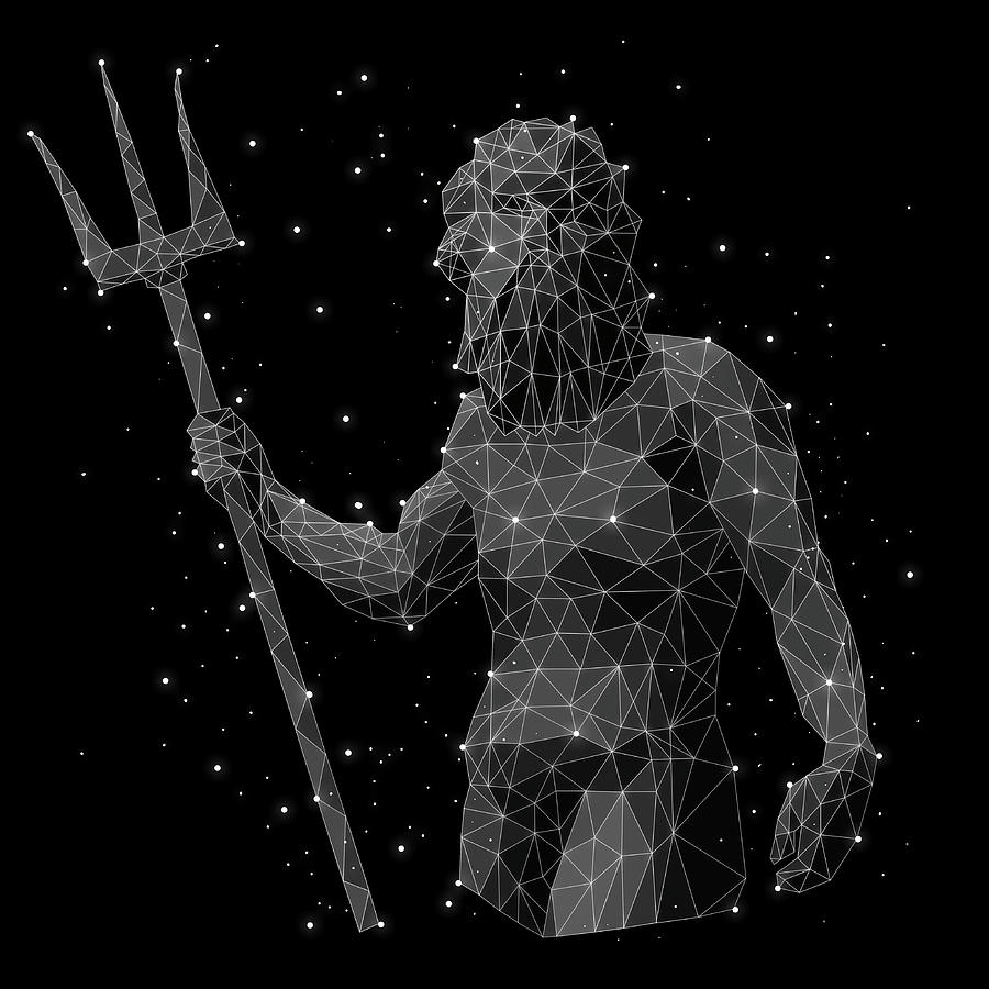 The Constellation Of Aquarius Digital Art by Malte Mueller