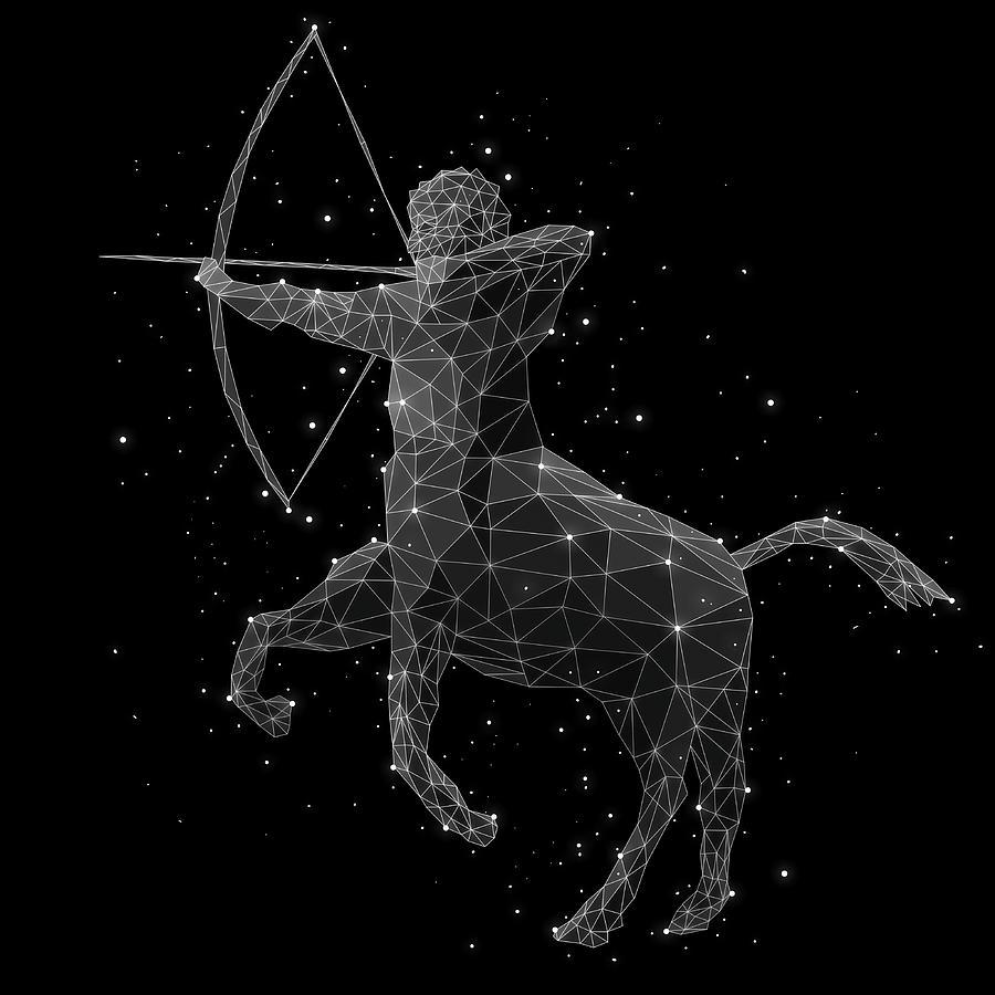 The Constellation Of Sagittarius Digital Art by Malte Mueller