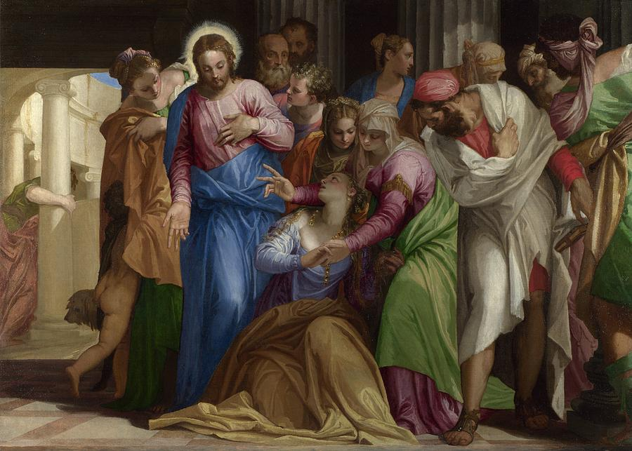 Cinquecento Painting - The Conversion Of Mary Magdalene by Paolo Veronese