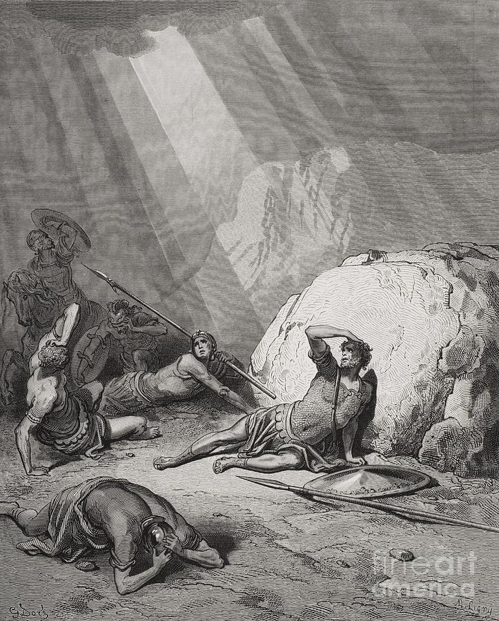 Saint Painting - The Conversion Of St. Paul by Gustave Dore
