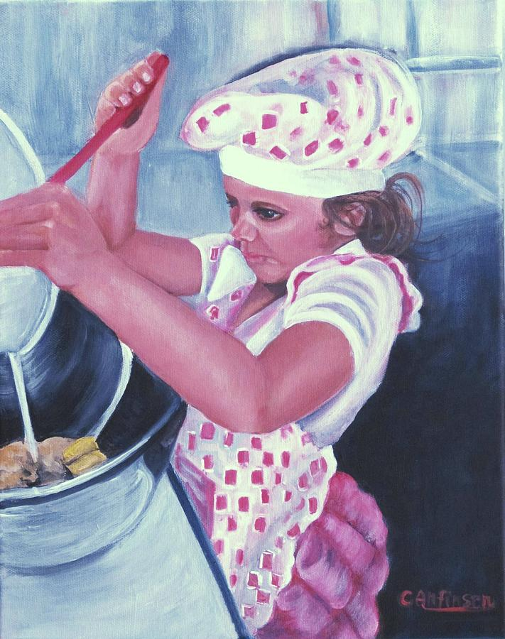 Child Painting - The Cook by Carol Allen Anfinsen