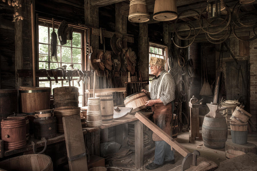 The Cooper 19th Century Artisan In His Workshop