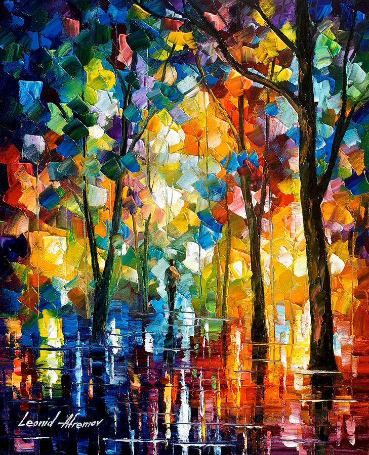 the core of nature palette knife oil painting on canvas by leonid