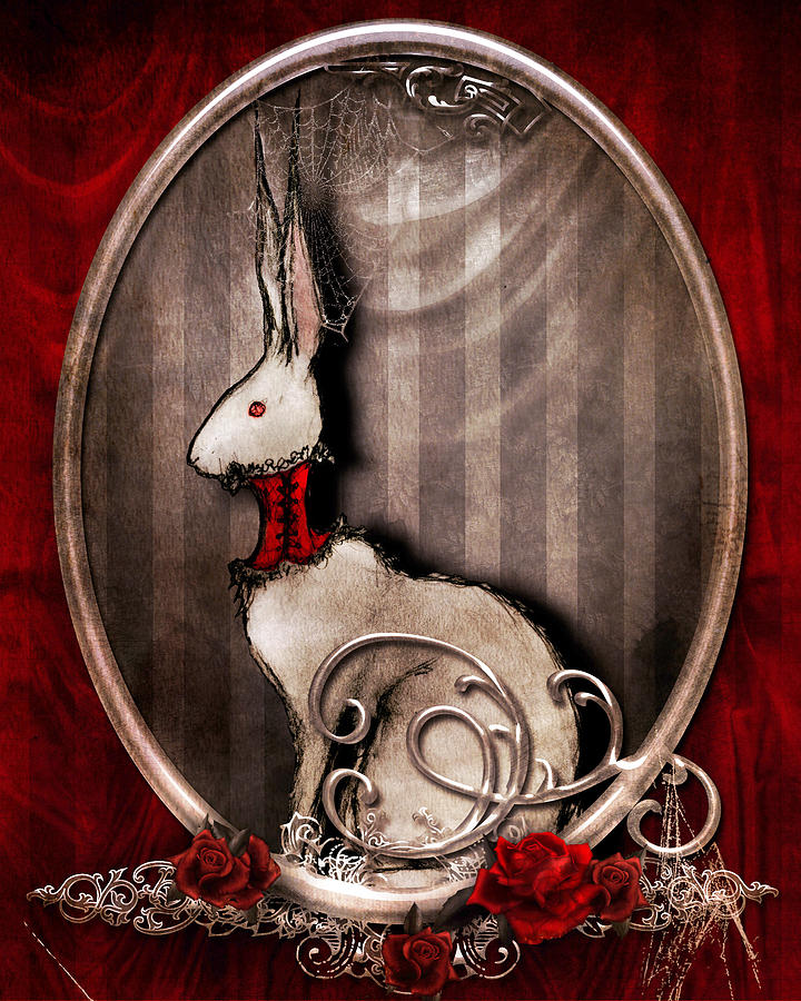 Bunny Drawing - The Corset by Penny Collins