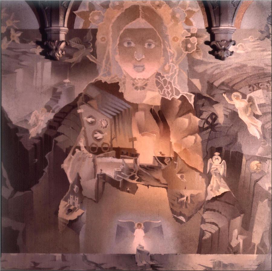 Jesus Christ Painting - The Cosmic Christ 1976 by Glenn Bautista