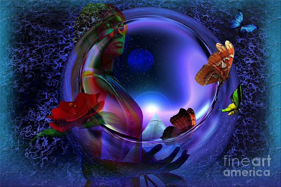 Butterflies Digital Art - The Cosmos by Shadowlea Is