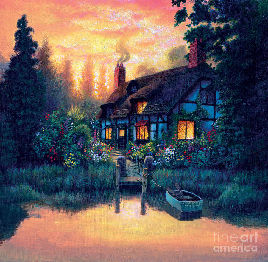 Cottage Photograph - The Cottage by MGL Studio - Chris Hiett