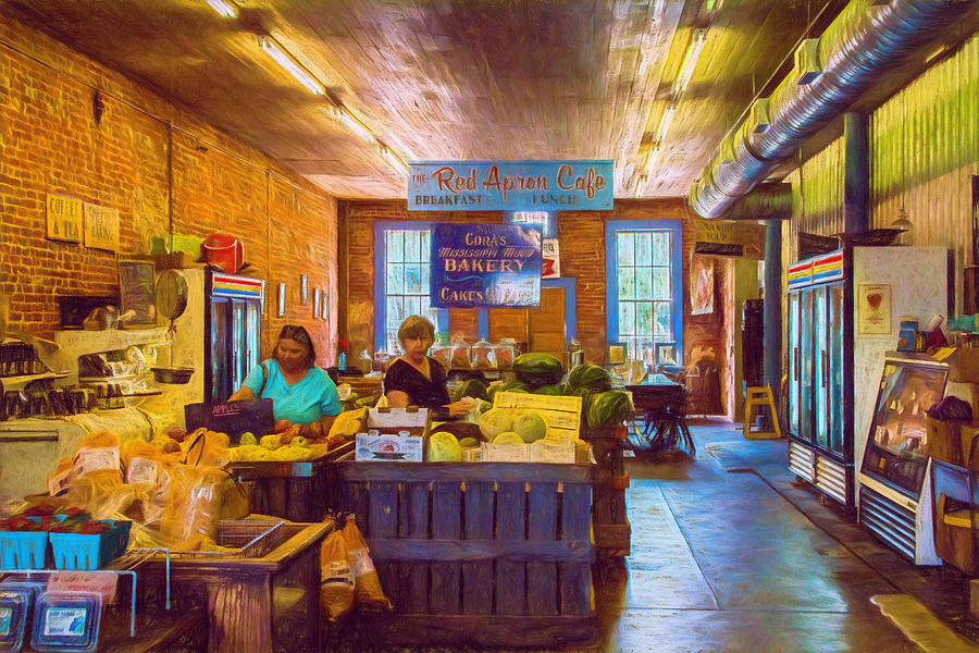 Country Store Photograph - The Country Store - Impressionistic - Nostalgic by Barry Jones