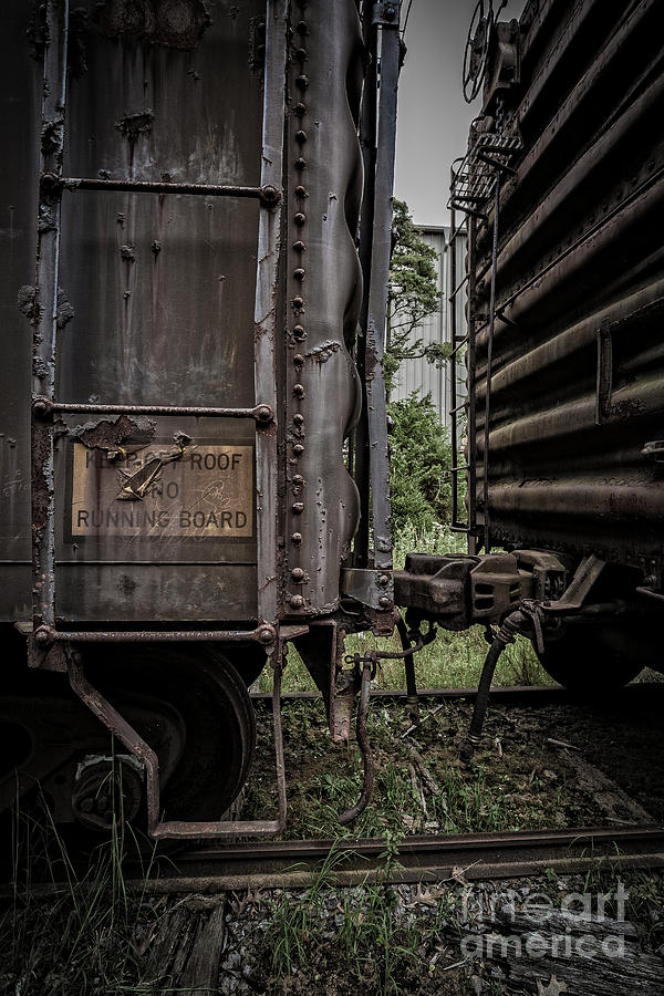 Essex. Train Photograph - The Coupling by Edward Fielding