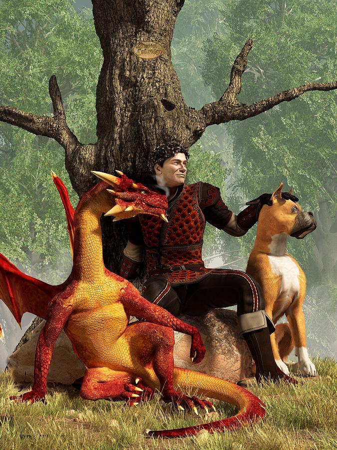 Knight Digital Art - The Courageous Hunters by Daniel Eskridge