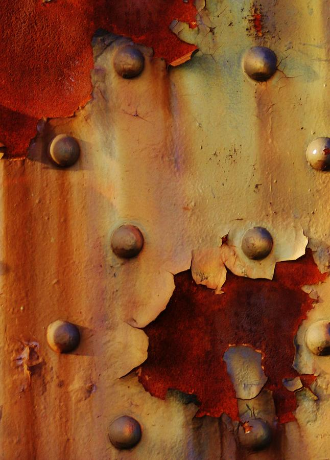 Corrosion Photographs Painting - The Course Of Rust by Charles Lucas