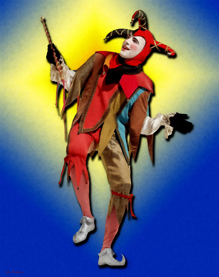 the court jester painting by tyler robbins